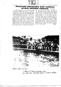 ohlas z tisku na první zápas v Přerově 1933